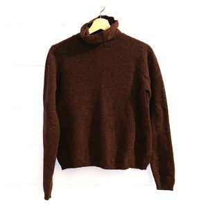 LL BEAN Wool Blend Turtleneck Sweater Size M